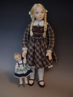 Dollhouse Doll Little Girl With Her Heidi Doll