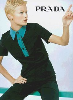 Prada image from S/S 1996 ad campaign with Carolyn Murphy