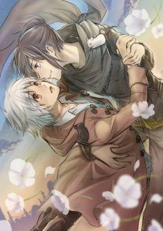 No. 6 ~~ Dancing amongst the flowers beneath a clear blue sky :: Shion & Nezumi