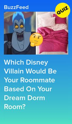 Which Disney Villain Would Be Your Roommate Based On Your Dream Dorm Room? Buzzfeed Quiz Funny, Best Buzzfeed Quizzes, Quizzes Funny, Quizzes For Fun, Disney Sidekicks, Disney Movies, Disney Characters, Disney Test, Punk Disney