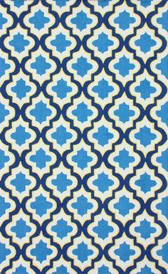 Serendipity 1974 Blue Rug