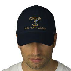 Crew Customize Your Name Rope Anchor Baseball Cap #crew #customize #your #name #rope #anchor #baseball #cap