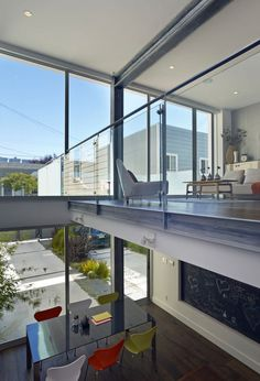 double-height ceiling Janus House // Kennerly Architecture & Planning
