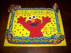 elmo first birthday cakes