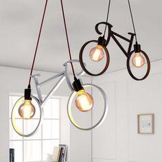 Industrial Retro Loft Bicycle Style Chandelier Decorative Bar Lamp Cafe Light | eBay