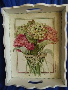 Wood Crafts, Diy And Crafts, Arts And Crafts, Faux Walls, Hydrangea Arrangements, Mod Podge Crafts, Extreme Makeover, Pintura Country, Arte Floral