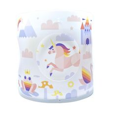 unicorn-themed design from the fantastic illustrator chris dunlop and hackett's lighting. these special lampshades contain a solar panel which, when the light is turned on, means the lampshade rotates. with chris dunlop's illustration, as the lampshade rotates the various safari creatures peek out through the outer shade, very cute!  #supportirishbusiness #irishbrand #irish #backingbusiness #supportirish #buyirish #irishdesign #irishmade Bedroom Themes, Kids Bedroom, Colorful Lamp Shades, Irish Design, Lampshades, Solar Panels, Your Cards, Unicorn, Things To Come