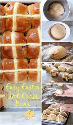 Traditional Easter Hot Cross Buns - no bread machine needed