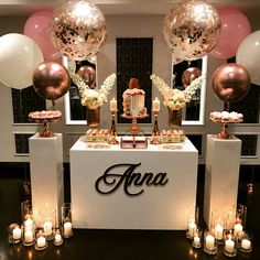 Sweet Sienna Event Styling On Instagram A Stunning Pink And Rose Gold Set Up For The Equally Annapetkovski 16 Birthday Party