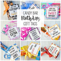 Candy Bar Birthday Gifts Tags Teacher Diy Simple