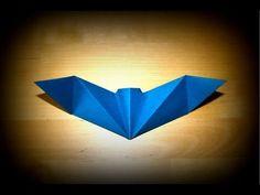 Murciélago de origami fácil para Halloween - PequeOcio