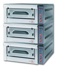 3/FP6M Forno pizza elettrico manuale sovrapposto con refrattario in pietra lavica. www.cb-italy.com