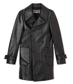 Bally Black Coated Cotton Coat