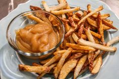 Pickled French Fries with Smoked Applesauce. The perfect compliment to any burger. We promise you will be amazed by this flavor combination!
