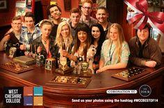 Performing Arts students visited the set of Coronation Street in Manchester. Here they are behind the bar at the Rovers Return! #WCCBESTOF14