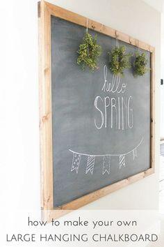 DIY Large Hanging Chalkboard