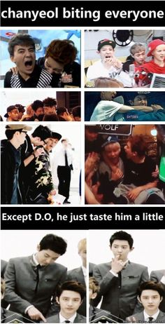 Well I don't blame him for not biting D.O.  XD