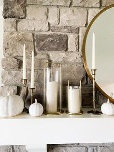 Fall Home Decor Ideas Fall Home Decor, Autumn Home, Home Decor Items, Large White Vase, White Vases, White Mantle, Grunge Room, Target Threshold, Fireplace Mantle