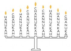 Chanukah Spelling Menorah