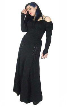 Ravana Adjustable Long Skirt - Gothic skirts for women