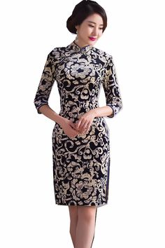 52708dd05 Shanghai Story Traditional Chinese Qipao Dress vintage chinese cheongsam  dress Chinese Velvet Oriental Dress For Ladies