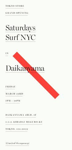 Saturdays Surf NYC #design #typography