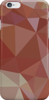 Congo Pink Abstract Low Polygon Background by retrovectors