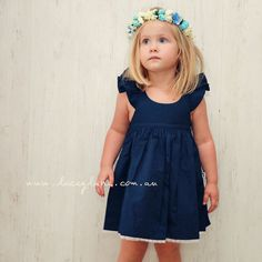Willow Fairy Dress by Lacey Lane - Gorgeous Navy fabric -Delicate lace on bottom hem -Elastic back -Belt Loops cotton -Regular fit Model is wearing a size Emmi-Belle Flower Crown sold separately. Lacey Lane, Low Back Dresses, Navy Fabric, Fairy Dress, Clothing Labels, Beautiful Dresses, Winter Outfits, Girl Outfits, Flower Girl Dresses
