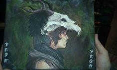 Cuadro pintado con acrilico Tomb Raider juego play 4