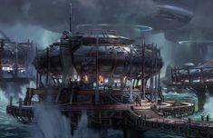 ArtStation - Halo 5, Tsunami station, John Wallin Liberto