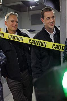 NCIS Gibbs (Mark Harmon) and Tim (Chad Murray)