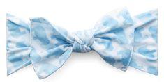Baby Bling Blue Elephant Printed Knot Headband