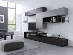 21 – Anime pictures to hairstyles Desk In Living Room, Living Room Interior, Living Room Decor, Home Room Design, Home Office Design, Modern Tv Room, Tv Unit Interior Design, Tv Unit Decor, Living Room Tv Unit Designs