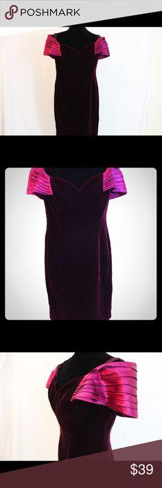 Rimini Faux velvet pink dress size 12 ruffle arms Rimini Faux velvet pink dress size 12 ruffle arms Rimini Dresses
