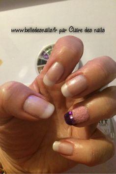 #nailart De strass et de velours - Belle des nails