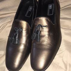 7177d51a2d8 Shop Men s ASOS Gold size 9 Loafers   Slip-Ons at a discounted price at  Poshmark. Description  I have these amazing metallic gold loafers for sale.