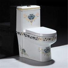 Online Shop أوروبا نمط اليدوية زهرة شكل حوض الحمام بالوعة الحمام كونترتوب السيراميك Aliexpress Mobile Sink Toilet