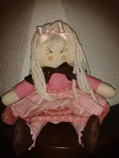 bambola di pezza #rag doll#creative sewing