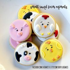 Small Farm Animal Sugar Cookies 2 Dozen by LHEBakes on Etsy #Decoratedsugarcookies