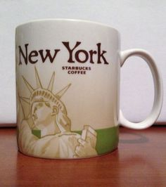 NEW YORK Starbucks City Mug Collector Series Global Icon Coffee/Tea 16oz 2010