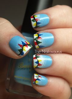 12 Days of Christmas Nails: Day 8... All of the Lights   The Nailasaurus