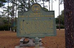 Sunbury Home of Many Famous Persons State Historical Marker