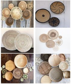 How to easily hang a gallery of decorative wicker wall baskets so that they sit flush without making any holes in the wall! Room Wall Decor, Diy Wall Decor, Boho Decor, Diy Home Decor, Home Decor Baskets, Wall Decorations, Hanging Wall Baskets, D House, Boho Bathroom