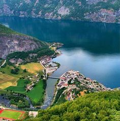 Small village right on the fjord at Norway.
