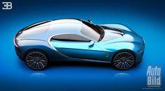 Virtuálne Bugatti od mladého dizajnéra