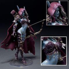 """Hot Online Game WOW Forsaken Queen Sylvanas Windrunner Action Figure 5""""-5.5"""" HIGH Collectible"""