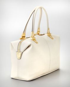 Tom Ford Natasha Ivory Calfskin Satchel Bag - Neiman Marcus