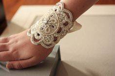 Bridal jewelry - bracelet Lilly cuff