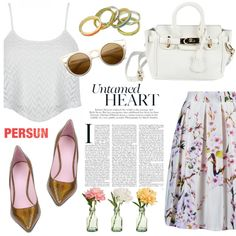 Untamed heart by helenevlacho on Polyvore featuring moda, Giamba, PEONY and persunmall