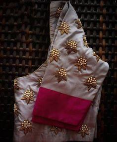 Saree or lehanga blouse - Blouse designs Wedding Saree Blouse Designs, Pattu Saree Blouse Designs, Simple Blouse Designs, Stylish Blouse Design, Fancy Blouse Designs, Latest Saree Blouse Designs, Zardosi Work Blouse, Dress Designs, Hand Work Blouse Design